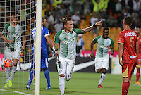 MEDELLIN-COLOMBIA- 12-02-2017. Dayro Moreno  jugador de  Atlético Nacional celebra su  2 gol contra    Rionegro  durante encuentro  por la fecha 3 de la Liga Aguila I 2017 disputado en el estadio Atanasio Girardot./  Dayro Moreno  player of   Atletico Nacional celebrates his goal  against of  Rionegro during match for the date 3 of the Aguila League I 2017 played at Atanasio Girardot stadium . Photo:VizzorImage / León Monsalve / Contribuidor