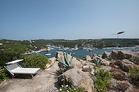 Santa Teresa di Gallura's picturesque harbour can be seen from the boulder-strewn terrace