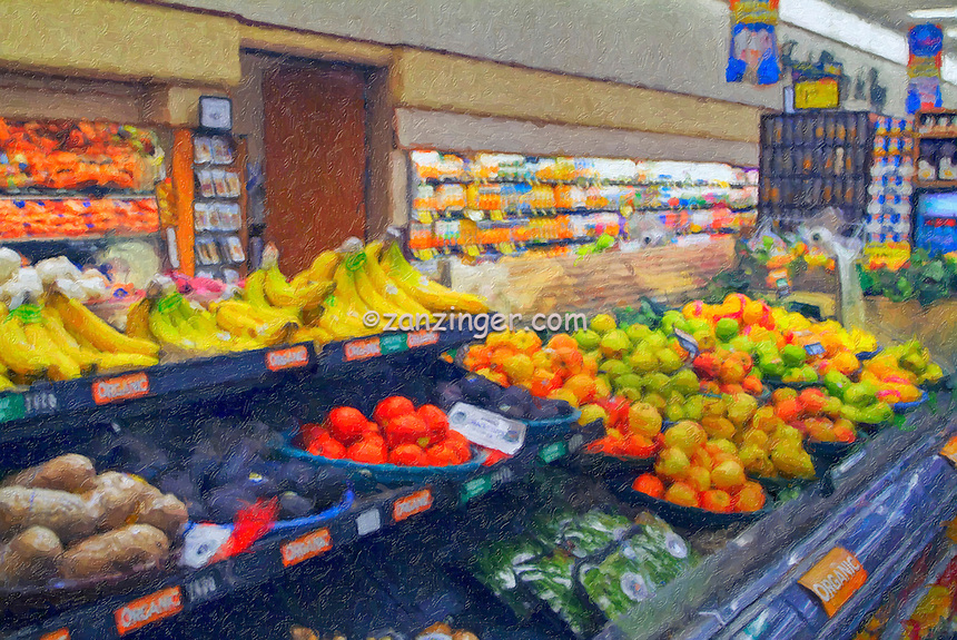 American, US, grocery, produce, food, store High dynamic range imaging (HDRI or HDR)