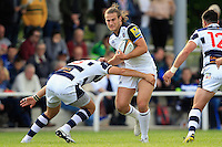 Max Clark of Bath Rugby takes on the Yorkshire Carnegie defence. Pre-season friendly match, between Yorkshire Carnegie and Bath Rugby on August 13, 2016 at Ilkley RFC in Ilkley, England. Photo by: Ian Smith / Onside Images