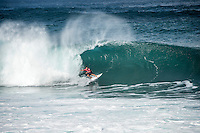 Pipeline,  OAHU - HAWAII, USA: (Thursday, December 10, 2015): Adriano de Souza (BRA) The Billabong Pipe Masters  was called on this morning, commencing at 8am in solid, wind effected 8-to-10 foot surf at Pipeline.<br /> Round One of the Billabong Pipe Masters in Memory of Andy Irons was completed before the contest was called off for the day as the wind strengthened and the swell moved more North.<br />  Photo: joliphotos.com