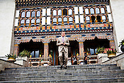 Gunter Pauli walks out of the Bhutanese parliament in Thimphu, Bhutan. Photo: Sanjit Das/Panos