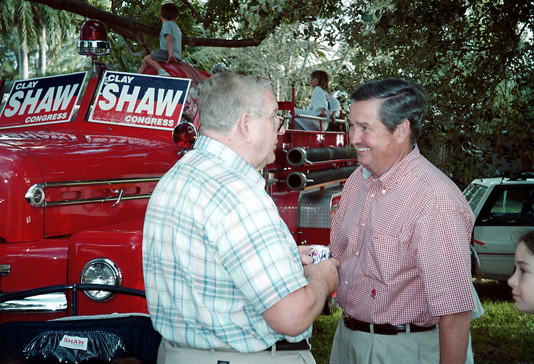 2Shaw102500 -- Clay Shaw, R-Fla., on the campaign trail.