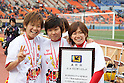 (L to R) Asuna Tanaka,  Ji So-Yun, Nahomi Kawasumi (Leonessa), JANUARY 1, 2012 - Football / Soccer : The 33th All Japan Women's Football Championship final match between INAC Kobe Leonessa 3-0 Albirex Ladies at National Stadium in Tokyo, Japan. (Photo by Akihiro Sugimoto/AFLO SPORT) [1080]