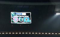 FUSSBALL   1. BUNDESLIGA  SAISON 2012/2013   27. Spieltag   FC Bayern Muenchen 9-2 Hamburger SV    30.03.2013 Anzeigentafel in der Muenchner Allianz Arena mit dem Ergebnis 9:2, der hoechsten Niederlage des HSV in 50 Jahren Bundesliga