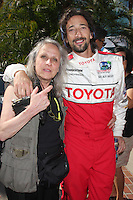Sylvia Plachy &amp; Son Adrien Brody  at the  Toyota Pro/Celeb Race Day on April 18 ,2009 at the Long Beach Grand Prix course in Long Beach, California..&copy;2009 Kathy Hutchins / Hutchins Photo....                .