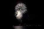 Fireworks and reflections over Lake Alster Hamburg, Germany