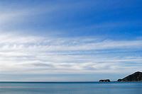 View towards northern end of Abel Tasman National Park, New Zealand