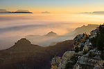 Sunrise over Grand Canyon National Park as viewed from the Rim Trail near Mather Point.