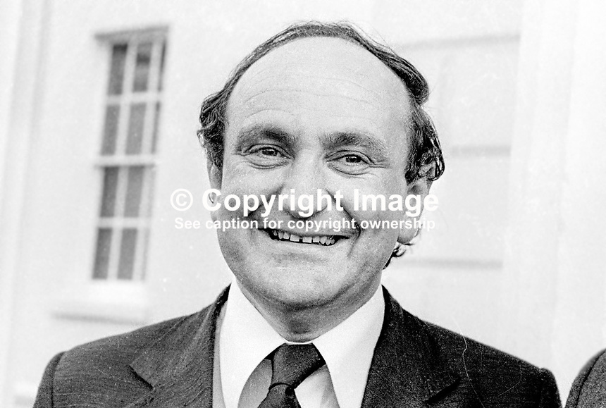 Gerry Collins, Fianna Fail, TD, Minister, Rep of Ireland, 195/77, 197707000195..Copyright Image from Victor Patterson, 54 Dorchester Park, Belfast, UK, BT9 6RJ..Tel: +44 28 9066 1296.Mob: +44 7802 353836.Voicemail +44 20 8816 7153.Skype: victorpattersonbelfast.Email: victorpatterson@mac.com.Email: victorpatterson@ireland.com (back-up)..IMPORTANT: If you wish to use this image or any other of my images please go to www.victorpatterson.com and click on the Terms & Conditions. Then contact me by email or phone with the reference number(s) of the image(s) concerned.
