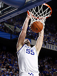 Josh Harrellson makes a dunk during the second half of the UK men's basketball 85-79 win over Mississippi State at Rupp Arena on Tuesday, Feb. 15, 2011.  Photo by Britney McIntosh | Staff