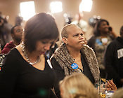 Taty Padilla watches returns at the State Democratic Party in Raleigh, North Carolina, Election Day, November 6, 2012. ..