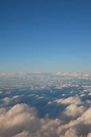 """Clouds 6"" - These clouds were photographed from an airplane above the clouds."