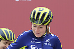 Orica-Scott team riders at sign on before the start of the Ladies 2017 Strade Bianche running 127km from Siena to Siena, Tuscany, Italy 4th March 2017.<br /> Picture: Eoin Clarke | Newsfile<br /> <br /> <br /> All photos usage must carry mandatory copyright credit (&copy; Newsfile | Eoin Clarke)