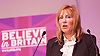 UKIP 2015 Spring Conference at the Winter Gardens Margate, Great Britain <br /> 28th February 2015 <br /> <br /> <br /> Janice Atkinson MEP<br /> PPC for Folkestone &amp; Hythe<br /> Women: Not pink but red, white &amp; blue. <br /> <br /> <br /> <br /> Photograph by Elliott Franks <br /> Image licensed to Elliott Franks Photography Services