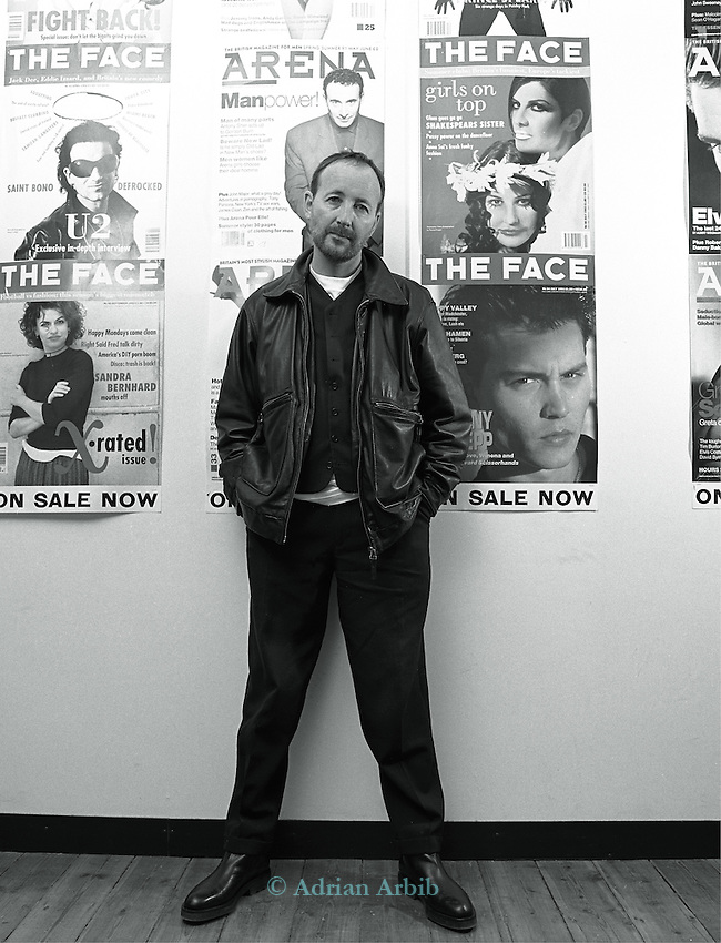 Editor and creator of  The  Face magazine, Nick Logan..Seen  as the  creator of  the new look  for fashion magazine