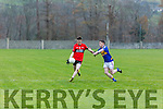 Tarbert's Finbarr Carrig and St. Senans Alan Kennelly  in the The Bernard O'Callaghan Memorial Senior Football Championship 2016 Semi Final  at Frank Sheehy Park, Listowel on Sunday