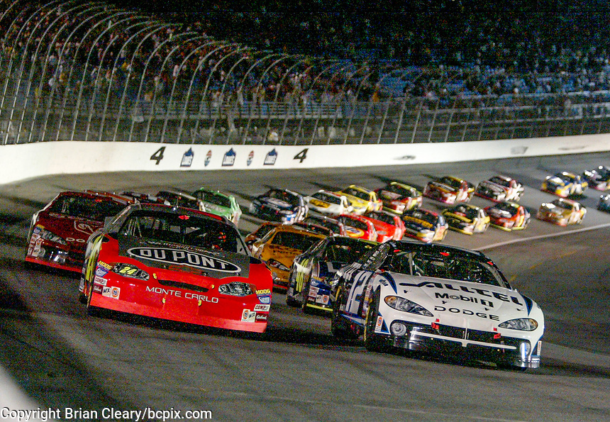 Start, Jeff Gordon, Ryan Newman, UAW-GM Quality 500, Charlotte Motor Speedway, Charlotte, NC, October 11, 2003.  (Photo by Brian Cleary/bcpix.com)