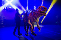 Edinburgh, UK. 02.08.2014. The Pleasance hosts its press launch in its 30th anniversary year on the Fringe. Picture shows: DINOSAUR ZOO interacting with the audience. Photograph © Jane Hobson,