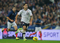 Clint Dempsey of team USA chases the ball during the friendly match France against USA at the Stade de France in Paris, France on November 11th, 2011.