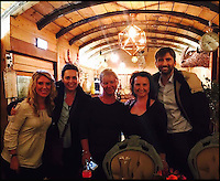 BNPS.co.uk (01202 558833)<br /> Pic: StationKitchen/BNPS<br /> <br /> Staff from Station Kitchen with David Tennant and Olivia Coleman from Broadchurch.<br /> <br /> A First World War ambulance train carriage that carried wounded soldiers to safety from the front line has been given a new lease of life as a quirky fine dining restaurant.<br /> <br /> Ross Moore and his wife Claire have added the dining carriage to their restaurant Station Kitchen, which they run from an old railway station in West Bay, Dorset, and it is proving a big hit with foodies travelling from all over the country - and the world - to eat there.<br /> <br /> The business started with Claire selling cakes and scones at Bridport Market six years ago, but grew into an award-winning catering company, Sausage and Pear.<br /> <br /> The couple set up their quirky restaurant in November 2015 and added the new dining carriage in October last year, which is already proving so popular with their patrons they have turned the old dining room into a lounge and cocktail bar.
