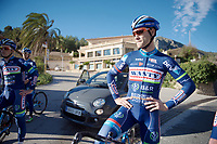 Antoine Demoiti&eacute; (BEL/Wanty-Groupe Gobert) during a training break<br /> <br /> Pro Cycling Team Wanty-Groupe Gobert <br /> <br /> Pre-season Training Camp january 2016