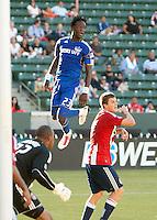 CARSON, CA – SEPTEMBER 19: KC Wizard Kei Kamara.during a soccer match at Home Depot Center, September 19, 2010 in Carson California. Final score Chivas USA 0, Kansas City Wizards 2.
