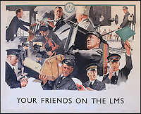 BNPS.co.uk (01202 558833)<br /> Pic: Onslows/BNPS<br /> <br /> ***Please use full byline***<br /> <br /> Well chuffed...Staycation posters from the golden age of steam found under a carpet.<br /> <br /> London Midland and Scottish railway.<br /> <br /> A property developer is celebrating after discovering a &pound;15,000 booty of treasure under a tatty old carpet in a run down property he was renovating in Edinburgh.<br /> <br /> The fascinating set of vintage posters from the golden age of British rail travel were spread under a carpet and in near perfect condition.<br /> <br /> The posters date back to the late 1940s and advertise seaside resorts around the country that could be visited by rail.<br /> <br /> It is thought the collection of 10 posters belonged to a railway worker who used them to line the floorboards of his house in Edinburgh around 60 years ago.<br /> <br /> But despite being worthless then, the posters are now much sought after, and are estimated to be worth at least &pound;1500 each.<br /> <br /> The collection is tipped to fetch &pound;15,000 when it goes under the hammer at Onslows in Blandford, Dorset.