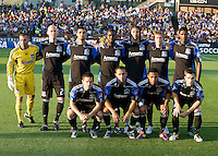 San Jose Earthquakes Starting XI pose together for group photo before the game against DC United at Buck Shaw Stadium in Santa Clara, California on July 30th, 2011.   DC United defeated San Jose Earthquakes, 2-0.