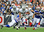 21 September 2008: Oakland Raiders' running back Michael Bush in action against the Buffalo Bills at Ralph Wilson Stadium in Orchard Park, NY. The Bills rallied for 10 unanswered points in the 4th quarter to defeat the Raiders 24-23...Mandatory Photo Credit: Ed Wolfstein Photo