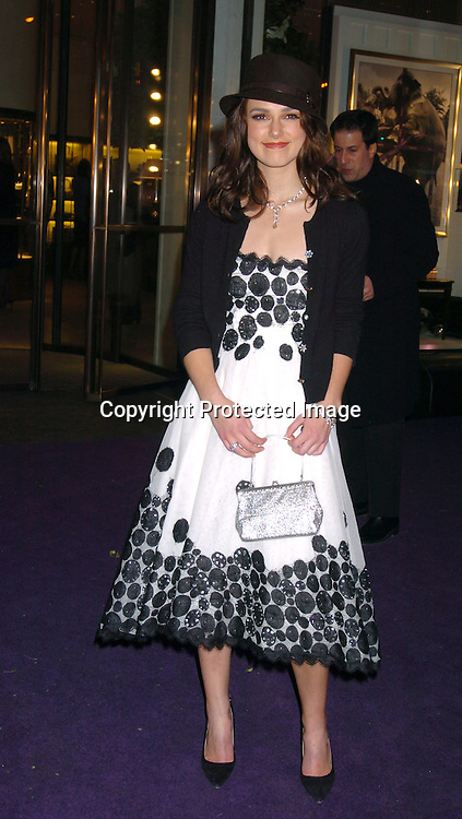 Keira Knightley..at the opening of Asprey in New York city on December 8, 2003. Photo by Robin Platzer, Twin Images