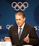 Olympia 2004 Athen Pressekonferenz IOC; Praesident Jacques Rogge;