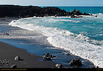 Makolea Black Sand Beach, Aa Lava, Kona Coast, Big Island of Hawaii
