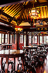 Traditional tea house interior in the old town of Shanghai, Yu Garden, China