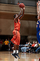 SAN ANTONIO, TX - OCTOBER 31, 2013: The Southeastern Oklahoma State University Savage Storm versus the University of Texas at San Antonio Roadrunners Men's Basketball Team at the UTSA Convocation Center. (Photo by Jeff Huehn)