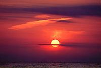 Stunning sunset over Lake Michigan outside of Saugatuck.