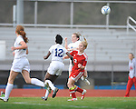 Oxford High vs. Lafayette High's Alley Houghton (3) in girls high school soccer in Oxford, Miss. on Saturday, December 8, 2012. Oxford won 1-0.