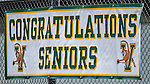 25 April 2015: A University of Vermont Catamount sign honors the Seniors during a game against the University of New Hampshire Wildcats at Virtue Field in Burlington, Vermont. The Lady Catamounts defeated the Lady Wildcats 12-10 in the final game of the season, advancing to the America East playoffs. Mandatory Credit: Ed Wolfstein Photo *** RAW (NEF) Image File Available ***