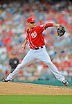 2 September 2012: Washington Nationals' pitcher Ryan Mattheus on the mound against the St. Louis Cardinals at Nationals Park in Washington, DC. The Nationals edged out the visiting Cardinals 4-3, capping their 4-game series with three wins. Mandatory Credit: Ed Wolfstein Photo