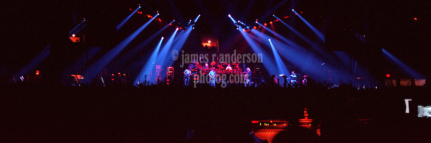 """Panoramic View of The Grateful Dead Live at the Hampton Coliseum on 9 October 1989. Available in 2 sizes: 10x30"""" and 20x60"""", custom signed limited edition prints."""