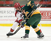 Alex Fallstrom (Harvard - 16), Louke Oakley (Clarkson - 19) - The Harvard University Crimson defeated the visiting Clarkson University Golden Knights 3-2 on Harvard's senior night on Saturday, February 25, 2012, at Bright Hockey Center in Cambridge, Massachusetts.