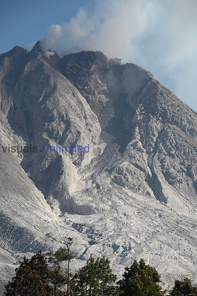 Andesite lava dome at summit of Sinabung Volcano, Indonesia