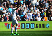 Swansea City's Fernando Llorente celebrates scoring his sides first goal <br /> <br /> Photographer Kevin Barnes/CameraSport<br /> <br /> The Premier League - Swansea City v Stoke City - Saturday 22nd April 2017 - Liberty Stadium - Swansea<br /> <br /> World Copyright &copy; 2017 CameraSport. All rights reserved. 43 Linden Ave. Countesthorpe. Leicester. England. LE8 5PG - Tel: +44 (0) 116 277 4147 - admin@camerasport.com - www.camerasport.com