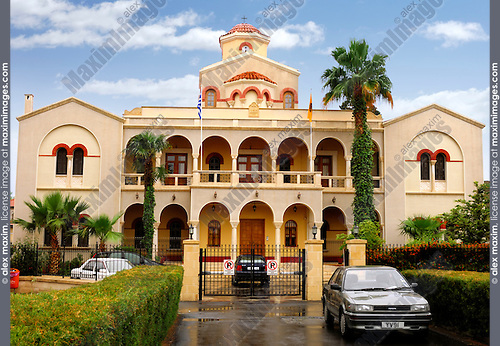 Travel stock photo of Bishopric building of Holy Bishopric Church of Panagia Katholiki in Limassol Cyprus 2007 Horizontal