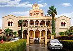 Travel stock photo of Bishopric building of Holy Bishopric Church of Panagia Katholiki in Limassol Cyprus 2007 Horizontal