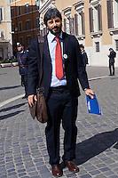 Roma 16 Marzo2013.Montecitorio, secondo giorno della  XVII legislatura..Roberto Fico del M5S