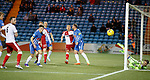 Killie keeper Freddie Woodman palms the ball away