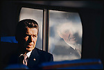 Former California Governor Ronald Reagan campaigning. New Hampshire, February 1976
