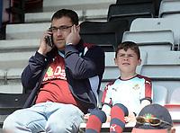 Burnley fans arrive at the Vitality Stadium prior to kick off <br /> <br /> Photographer Ian Cook/CameraSport<br /> <br /> The Premier League - Bournemouth v Burnley - Saturday 13th May 2017 - Vitality Stadium - Bournemouth<br /> <br /> World Copyright &copy; 2017 CameraSport. All rights reserved. 43 Linden Ave. Countesthorpe. Leicester. England. LE8 5PG - Tel: +44 (0) 116 277 4147 - admin@camerasport.com - www.camerasport.com