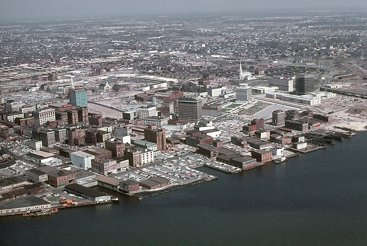 1964 May ..Redevelopment.Downtown South (R-9)..WATERFRONT VIEW.LOOKING NORTHEAST...NEG#.NRHA# 462..